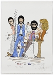 "The Who John Entwistle Signed and Inscribed ""Spirit of 76""  Original Limited Edition Lithograph"