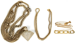 "Nicki Minaj ""Right By My Side"" Music Video Worn Necklaces (3)"