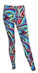 "Nicki Minaj ""Femme Fatale"" Tour with Britney Spears Meet-and-Greet Colorful Psychedelic Design Leggings"