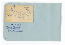 The Who Signed Cut with Keith Moon REAL LOA