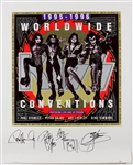 KISS Worldwide Poster Signed by Original Members