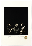 Crosby, Stills and Nash Signed Original Joel Bernstein Limited Edition Lithographic Print