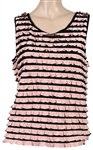 Rickie Lee Jones WFUV Radio Essentials Worn Ruffled Pink and Black Sleeveless Top