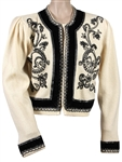 Rickie Lee Jones Stage Worn Elaborately Beaded Vintage Sweater