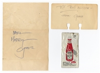 KISS Gene Simmons 1979 Handwritten and Signed Letters with Simmons Ketchup Packet