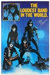 "KISS ""Creatures of the Night"" Vintage Band Signed Poster"