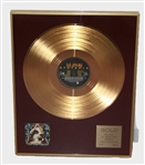 "Def Leppard Gold Record For The Incredible ""Hysteria"" album Presented to Rick Allen (Only 5 Exist!)"