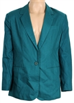 Michael Jackson Owned & Worn Adolfo Teal Jacket