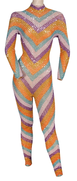 "Cardi B ""Bonnaroo Festival"" Stage Worn Custom Hand-Beaded Sequin Catsuit"