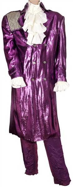"Prince ""Little Red Corvette"" And ""1999"" Music Video Worn and Stage Worn Custom Jacket and ""Purple Rain"" Tour Stage Worn Ruffled Shirt and Purple Pants"