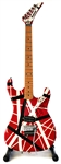 Eddie Van Halen Personally Owned, Signed and Heavily Stage Played Custom 1986 Kramer Striped Guitar