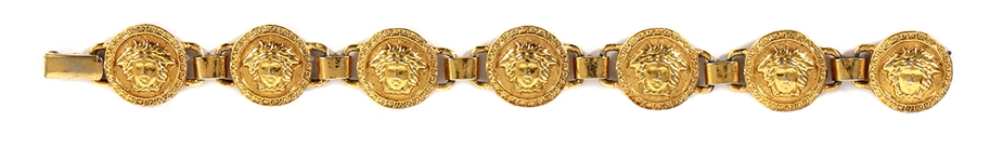 Tupac Shakur Owned & Worn Gold Plated Versace Bracelet