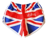 Def Leppard Rick Allen Owned and Stage Worn Iconic Union Jack Shorts