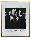 Def Leppard 1988 Band Signed Photograph
