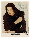 Michael Jackson Signed & Inscribed Publicity Photograph