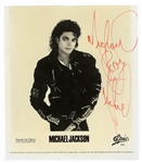 Michael Jackson Signed Promotional Photograph