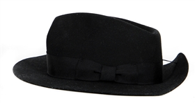"Michael Jackson ""HIStory Tour"" Stage Worn Custom Black Fedora"