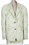 Lizzo Backstage Worn Miscreants Green Floral Suit Jacket and Skirt