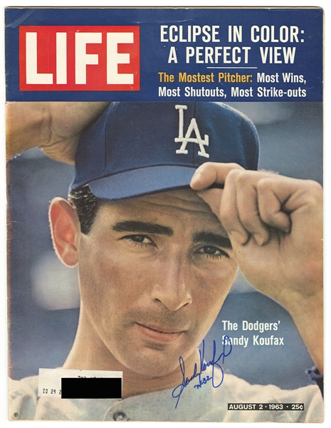 Sandy Koufax Signed 1963 Edition of Life Magazine