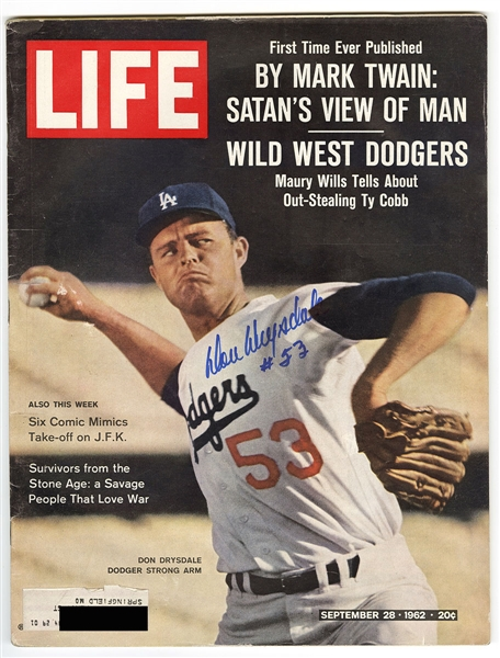 Don Drysdale Signed 1962 Edition of Life Magazine
