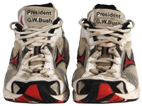 President George W. Bush Owned & Worn Custom Mizuno X10 Sneakers