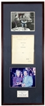The Jackie Gleason Show Original Script and Signed Photo Display