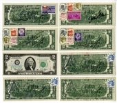 Collection of Astronaut Signed $2 Bills (11) JSA