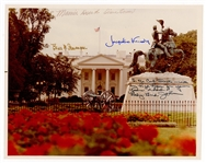First Ladies Signed White House Photograph with Truman, Eisenhower, Kennedy & Johnson JSA