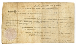 President Thomas Jefferson & James Madison Signed Document (1807) JSA