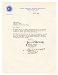 James A. McDivitt and Edward H. White II Signed Letter