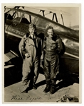 Will Rogers and Frank Hawks Signed Photo JSA