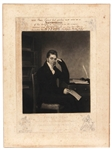 "Pierce Egan Author of ""Boxiana"" Signed Engraved Portrait (Only Known Example)"