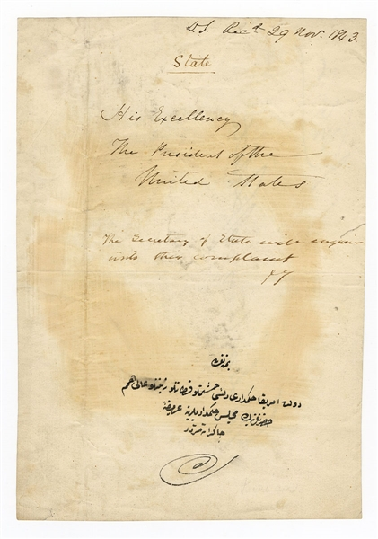 John Tyler Signed Document as President JSA
