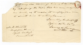 James Polk Handwritten Signed Letter JSA