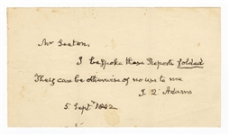 John Quincy Adams Handwritten Letter JSA
