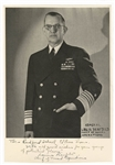 Admiral Louis Denfield Signed Photograph With Inscription