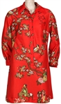 "Lana Del Rey ""Lust for Life"" Promotion Signed & Worn Red Chinese-Style Print Dress"